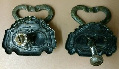 "Vintage Pair of Drawer Pulls 2"" Brass 3"