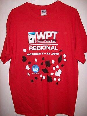 Wpt World Poker Tour Regional Colorado 2012 Final Table T-Shirt Large Never Worn