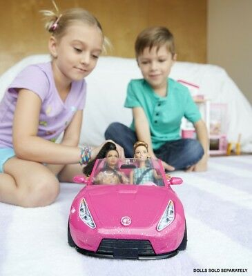 Barbie Glam 2 Seater Convertible Car Doll Vehicle In Sparkle Pink 5