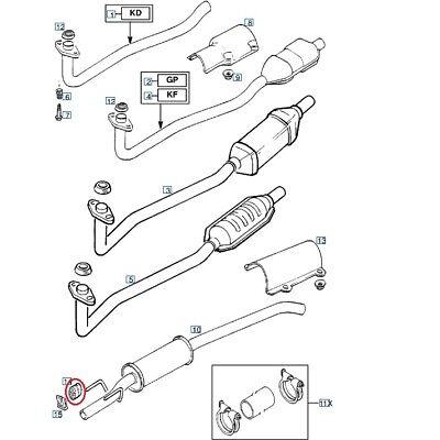 OPEL CORSA C 1,2 1,4 16v mezzi Pentola silenziatore di scarico sistema di scarico Kit di Montaggio Kit