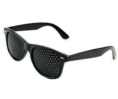 Hot Black Eyesight Improve Anti-fatigue Vision Care Stenopeic Pinhole Glasses PS 4