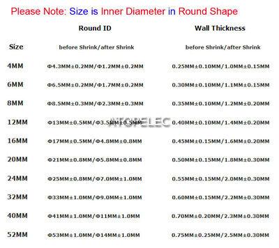 4-52mm Diameter Adhesive Lined 4:1 Heat Shrink Tube Wrap Dual-wall Waterproof 2