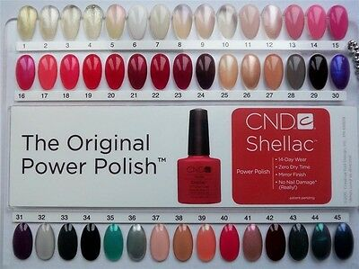 1 Of 3free Shipping Creative Cnd Shellac Salon Shades Nail Tip Color Chart Palette Colour Sample