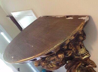 Antique Gilded Carved Wall Sconce Impressive Size 9
