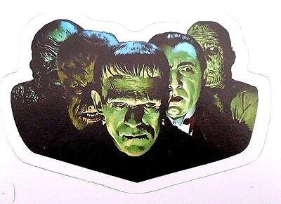 Frankenstein Dracula Wolfman Mummy Creature From Black Lagoon Decal/ Sticker 2