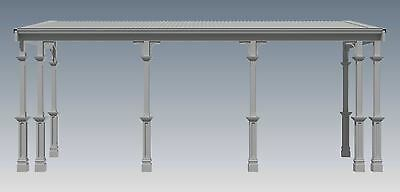 TRADITIONAL TIMBER FLAT ROOF VERANDAH V02 - Full  Building Plans 2D & 3D 2