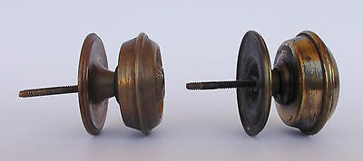 Vintage Pair Of Brass Handle/knobs 6