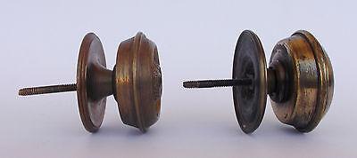 Vintage Pair Of Brass Handle/knobs 6
