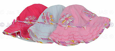 Girl Kids Toddler Baby Cotton Floral Flower Bell Bucket Sun Hat Size Adjustable 2