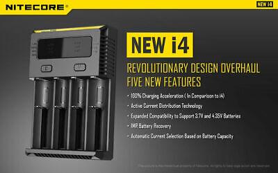 【】Nitecore NEW I4 Smart Battery Charger Lithium NiMh 18650 26650 22650 3