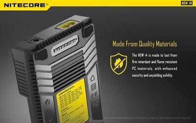 【】Nitecore NEW I4 Smart Battery Charger Lithium NiMh 18650 26650 22650 8