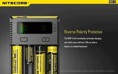 【】Nitecore NEW I4 Smart Battery Charger Lithium NiMh 18650 26650 22650 9