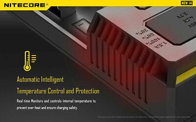 【】Nitecore NEW I4 Smart Battery Charger Lithium NiMh 18650 26650 22650 6