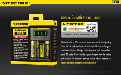 【】Nitecore NEW I4 Smart Battery Charger Lithium NiMh 18650 26650 22650 11