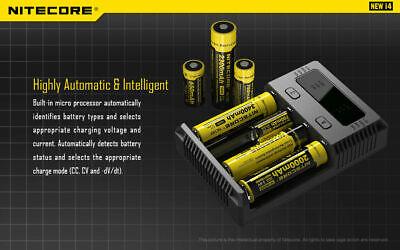 【】Nitecore NEW I4 Smart Battery Charger Lithium NiMh 18650 26650 22650 10