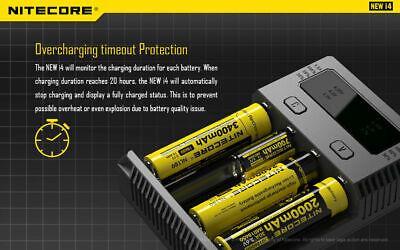 【】Nitecore NEW I4 Smart Battery Charger Lithium NiMh 18650 26650 22650 7