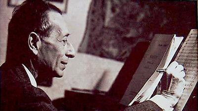 ALEXANDRE TANSMAN Composer JEWISH PIANIST Hand SIGNED AUTOGRAPH + PHOTO + MAT 2