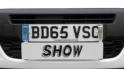 Showroom Show Display Number Plate Holders Clip On Spring Loaded Trailer Bracket 8