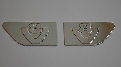 2 Stück Chrom Polierter Edelstahl Stahl Dekoration für Scania R Euro 6 Vi
