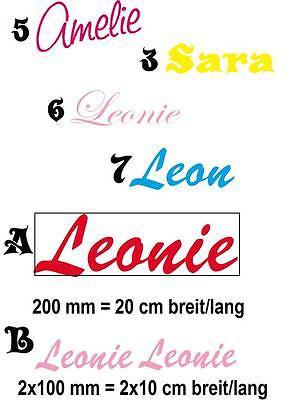 3 Von 5 Aufkleber Wandtattoo Sticker Name Nach Wunsch   Freie Farbwahl