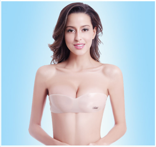 0a3b484cc4c18 Silicone Push-Up Strapless Backless Self-Adhesive Gel Magic Stick Invisible  Bras 3 3 of 12 See More