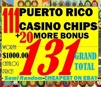 MEGA Set 131 PUERTO RICO CASINO New & Vintage POKER CHIP COLLECTION +Bonus Lot 2