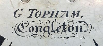 Antique Mahogany Rolling Moon Longcase Grandfather Clock G TOPHAM Congleton 9