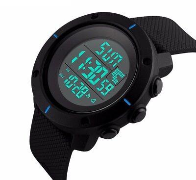 Fashion Men's LED Date Waterproof Digital Quartz Military Army Sport Wrist Watch 5