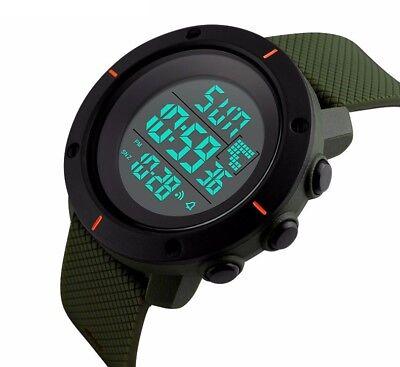 Fashion Men's LED Date Waterproof Digital Quartz Military Army Sport Wrist Watch 3