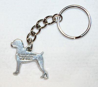 BOXER Dog Fine Pewter Keychain Key Chain Ring Fob