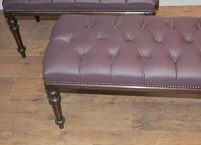Pair Regency Mahogany Piano Stools Bench Seats