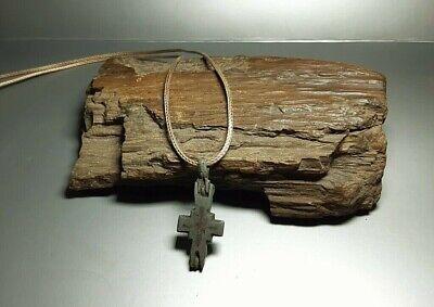 Bezantine Pendant Reliquary Cross ENKOLPION Kievan Rus.Viking 9-13 cen.AD#2527 2