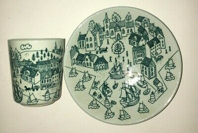 Nymolle Art Faience Hoyrup Demitasse Cup and Saucer Set 2