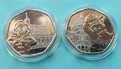 Complete Set Paddington Bear 4 x 50p Uncirculated from Sealed Bags in Capsules 3