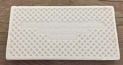 Antique Number 3 Tile Curtis Development & MFG. CO. House Address 1.75X3.45 Inch 3