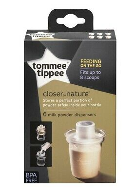 Tommee Tippee Closer to Nature Milk Powder (Formula) Dispensers 6Pk?Pots?New 5