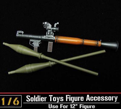 "1//6 scale Anti-tank Bazooka RPG-7 WWC Weapon wood grain Fit 12/"" Action Figure"