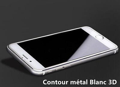 Vitre film protection verre trempé FULL 3D ALUMINIUM iPhone 7/6/6S/8/X/XR/XS/MAX 7