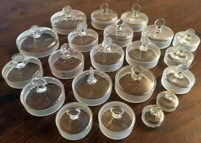 Konvolut: 21 Deckel für Laborgläser | Apotherkerglas | Petrischale | Gewürzglas