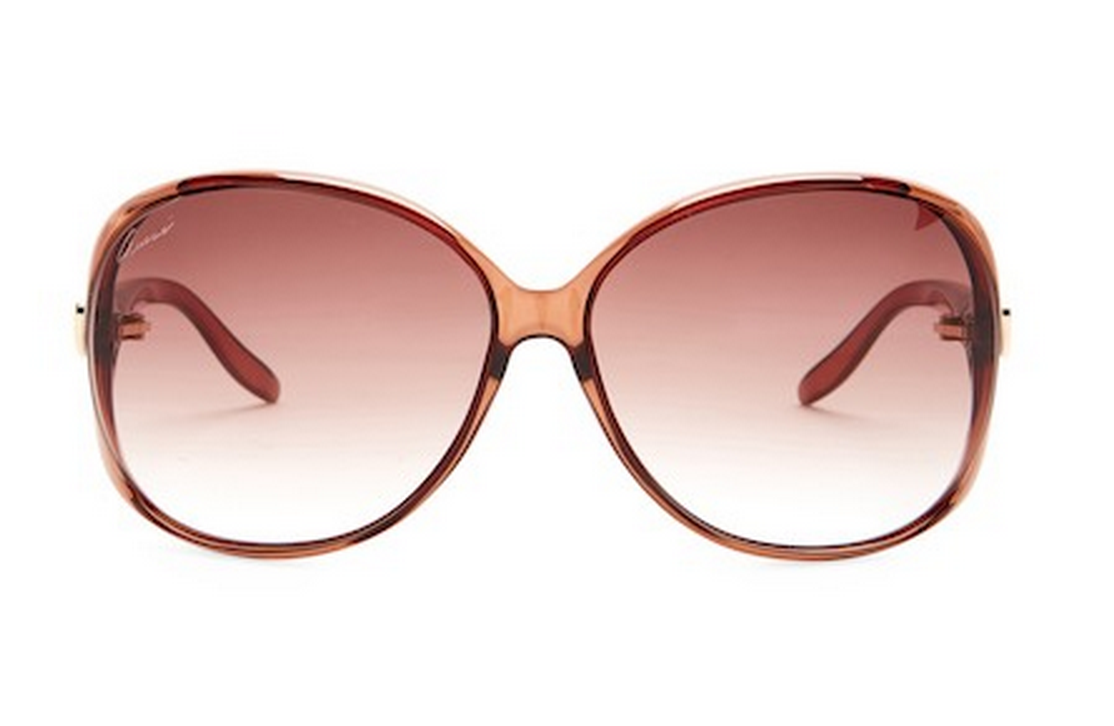 2c27f29aa0c GUCCI Oval Women Sunglasses GG 3525 K S Gold Heart Brown Pink Gradient  XGJFM 2 2 of 4 See More