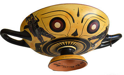 Black figure Kylix With Dionysus crossing the sea- Exekias-Munich Museum Replica 4