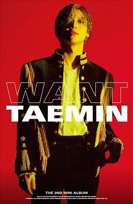 SHINEE TAEMIN [WANT] 2nd Mini Album RANDOM CD+Photo Book+Card+Stand+GIFT SEALED 3
