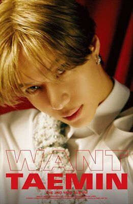 SHINEE TAEMIN [WANT] 2nd Mini Album WANT Ver CD+PhotoBook+Card+Stand+GIFT SEALED 4