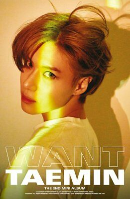 SHINEE TAEMIN [WANT] 2nd Mini Album WANT Ver CD+PhotoBook+Card+Stand+GIFT SEALED 2