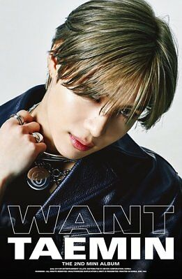 SHINEE TAEMIN [WANT] 2nd Mini Album WANT Ver CD+PhotoBook+Card+Stand+GIFT SEALED 5