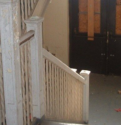 Wought iron stair railing pine cap, Greenbrier High School, Ronceverte, WV Lot 4 2