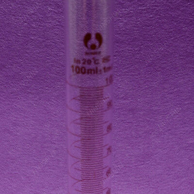 Measuring Cylinder,100ML, With Solid Stopper and Ground Joint,Lab Glassware 2