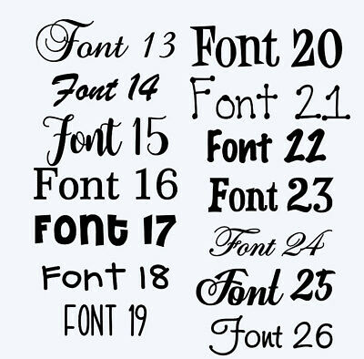 Customised Box Frame Sticker Decal 60 FONTS Quote 3 Sizes DIY  design your own 3