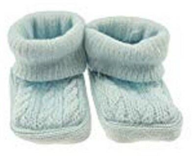 New Baby Babies Boy Girl Knitted Booties White Pink Blue Cream Size NB-3M Shoes 2