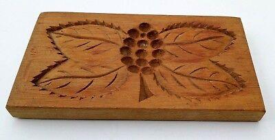 altes doppelseitiges Holz Model Springerle Spekulatius Blume 14 x 8 x 1 cm